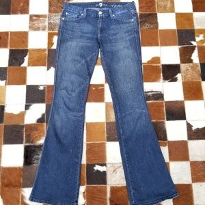 "7 for all mankind ""A-pocket"" dark blue jeans, 27"